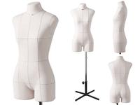 Портновский женский манекен Royal Dress forms MONICA, с подставкой Милан, с конструктивными линиями. Р-р 48 ( черный , бежевый).