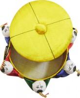 Игольница желтая, размер 90*40 мм