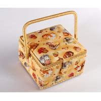 Шкатулка тканевая ( гобеленовая ) арт.3939-RT-27  20.5x20.5x13.5cm