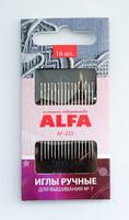 Иглы ручные ALFA для вышивания № 7 (16 шт.).AF-232