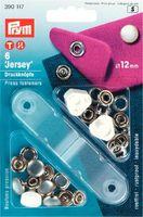 """Prym 390117 Кнопки """"Джерси"""",12 мм., 6 шт., жемчужная шляпка, + насадки для установки."""