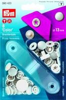 "Prym 390420 Кнопки ""Сolor Джерси"", 13 мм., 8 шт.,белые, пластик + насадки для установки."