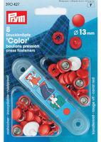 """Prym 390427 Кнопки """"Color джерси"""", ( 8 шт.),13 мм., красный + насадки для установки."""