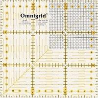 Prym 611306 Линейка для пэчворка с сантиметровой шкалой, квадрат 15х15см.