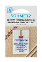 ИГЛЫ   Schmetz СТАНДАРТНЫЕ ДВОЙНЫЕ ZWI № 90/4.0, 1 ШТ