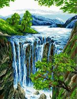 """Картина стразами """"Водопад"""" AJ-1042"""