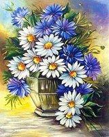 """Картина стразами """"Ромашки с васильками"""" AJ-1245"""