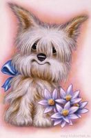 "Картина стразами ""Пес с цветами"" AJ-1189"