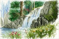"""Картина стразами """"Лесной ручей"""" AJ-160"""