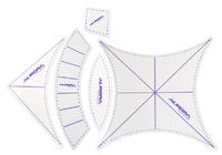 """Набор шаблонов для пэчворка """"Свадебные кольца- 5 шт."""" (Большие).Арт.AU-6165"""