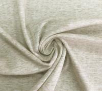 Ткань трикотажная, интерлок, бежевый меланж.