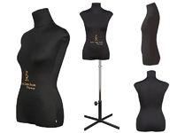 """Портновский женский манекен Royal Dress forms CHRISTINA, с подставкой """"звезда"""", р-р 52 (черный, бежевый)."""