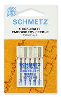 Иглы Schmetz для вышивки № 75(3),90(2), 5 ШТ