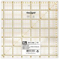 Prym 611319 Линейка для пэчворка с сантиметровой шкалой, 31,5см.х 31,5см