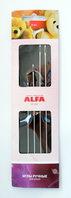 Иглы ручные ALFA для изготовления кукол и мягких игрушек (4 шт.).AF-220
