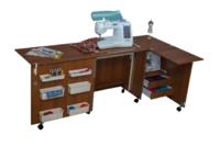 Стол для швейной машины и оверлока Комфорт  (с дополнительной поверхностью для раскроя ткани) 5XL+ ( до 20 кг )