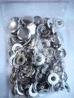 Кнопка Альфа 15 мм сталь цв. никель ( комплект 10 шт ) .