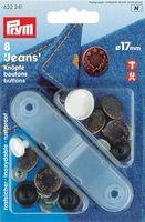 """Prym 622241 Джинсовые кнопки """"Лавровый венок"""", 17мм., 8 шт.+насадки для установки."""