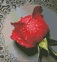 "Картина стразами ""Красная роза"" AJ-14"