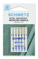 Иглы  Schmetz микротекс (особо острые) № 60(2),70(2),80, 5 ШТ.