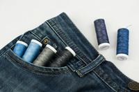Нитки AURORA для штопки джинсов, №80С, 150м.(черный).Арт.AU-4199