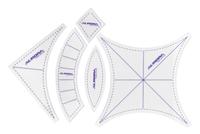 """Набор шаблонов для пэчворка """"Свадебные кольца"""", 5шт. (малые).Арт.AU-6175"""