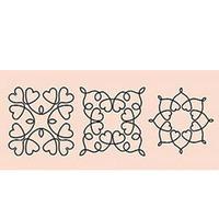 Квилт -шаблон. Цветы 15,3 х 45,7см.(пластик)