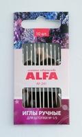 Иглы ручные ALFA  для штопки № 1/5 (10 шт.).AF-241