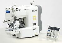 Электронная закрепочная машина программируемой строчки Brother KE-430 с устройством для пришивания кнопок