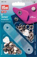 """Prym 390120 Кнопки """"Джерси"""", 10 мм., 9 шт., шляпка серебристая,+ насадки для установки."""