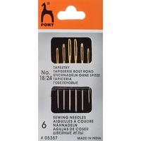 Иглы для гобелена, золотое ушко №18-24 (6 шт) PONY арт.5357