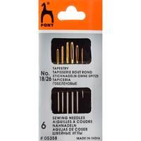 Иглы для гобеленовых и трикотажных тканей № 18-26, 6 шт PONY арт.5358