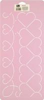 Prym 610123 Квилт-шаблон. бордюр из сердец.(размер 20,5 см. х 45,7 см.).