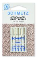 Иглы   Schmetz джерси SUK №№ 70, 80(2),90,100, 5 шт.
