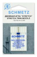 Иглы Schmetz стретч двойные ZWI № 75/2.5, 1 шт.