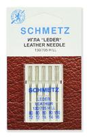 Иглы  Schmetz для кожи LL № 80(2),90(2),100, 5 шт.