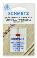 Иглы  Schmetz универсальные двойные ZWI № 80/4.0, 1 ШТ.