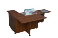 Стол для швейной машины и оверлока Комфорт-5+ (с доп. поверхностью для раскроя ткани) до 10 кг