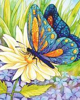 "Картина стразами ""Бабочка и цветок"" AJ-1129"
