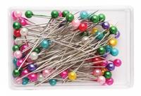 Булавки с перл. шариком в футляре 0333-3015