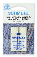 Иглы джинс двойные № 100/4.0, Schmetz