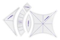 """Набор шаблонов для пэчворка """"Свадебные кольца""""(малые).Арт.AU-6175"""
