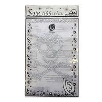 KS-MOSM017 Термоаппликация из страз 'Пиратский череп', металлик, 16*20см Ki Sign