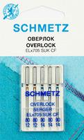 Иглы  Schmetz джерси для плоскошовных машин, хром SUK CF ELX705 №№ 80(2),90(3), 5 шт.