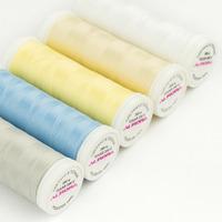 Нитки швейные текстурированные  AURORA TEXAR №200 (360 М).Белый и черный , цветные