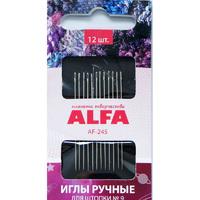 Иглы ALFA для шитья и штопки №9 (12 шт.).AF-245